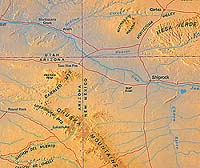 Aztec NM, Major Attractions in the Four Corners Area |Four Corners National Park Map